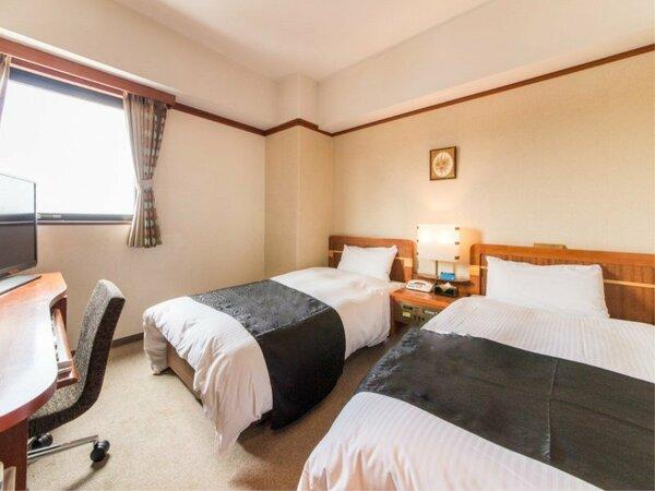 【ツインルーム】ベッド110m×2台 ご旅行のお客様にオススメです。