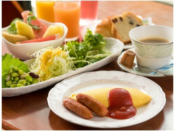 【朝食バイキング】レストラン七草手作りの朝食です。