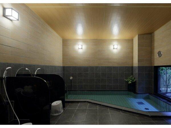 「旅人の湯」(女性)ラジウム温浴剤により軟水化された、水当たりが軟らかく肌に潤いを与える人工温泉です