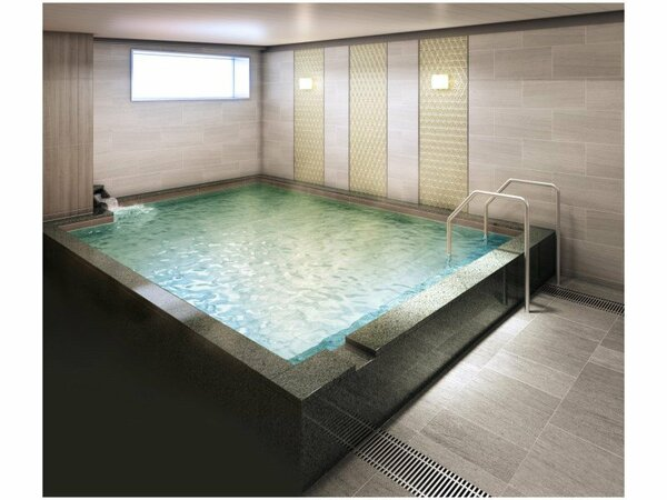【4F 大浴場】営業時間 15:00-25:00,6:00-10:00 ※イメージ