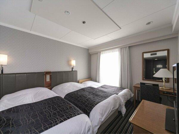 トリプルルーム/18平米/ベッド幅110cm×2台 ※エキストラベッド(ベッド幅85cm)