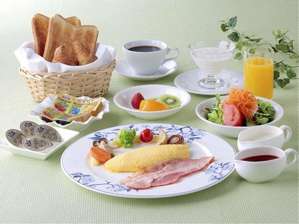 朝食アメリカンブレックファースト
