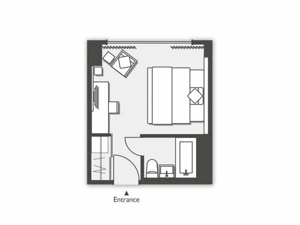 【禁煙】サウスタワーダブル/ベッド幅180cm/20平米