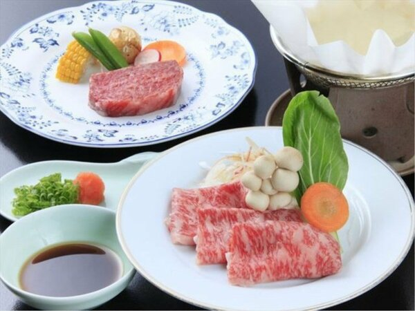 米沢牛ステーキ&山形牛しゃぶしゃぶ