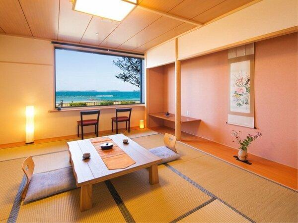 ■和室 10~12帖■日本海を一望しながら、ゆとりのある空間で心身ともにリラックス
