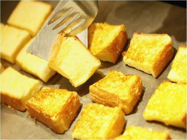 朝食人気ナンバーワン!卵たっぷりフレンチトースト♪【1F「ラ・ベランダ」】