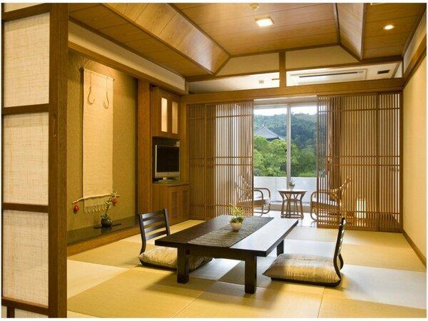 若草山側客室(10畳+4畳)一例