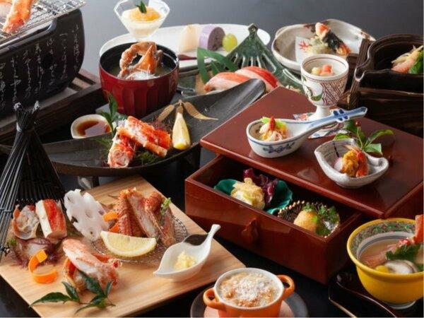 """【""""冬季限定""""蟹三昧 会席】タラバ蟹やズワイ蟹など蟹を贅沢食べ尽くしコースでご用意いたします。"""