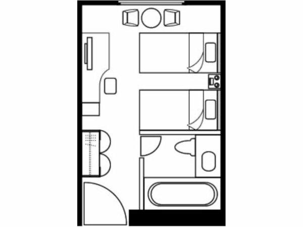 ツインルーム間取り図