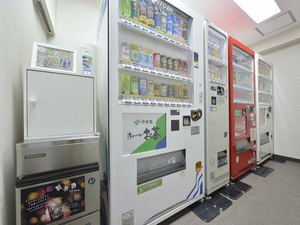 自動販売機は4Fと6Fにご用意しております。