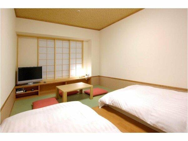 3名様まで宿泊可能な和風ツイン。10階以上の高層階にございます。