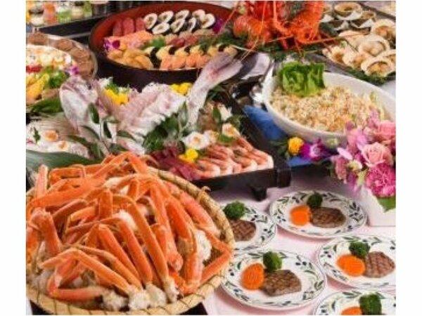 約100種類の和食・洋食・中華を取り合わせたバイキング
