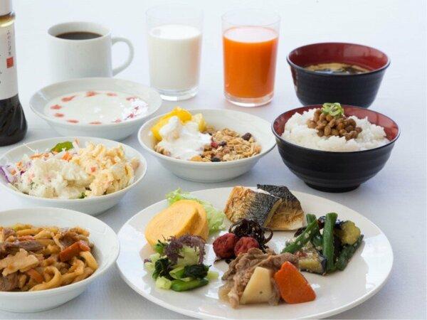 朝食 和食メニュー盛り付け例