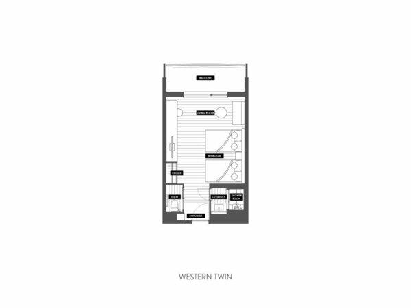 「洋室ツイン」(22平米)