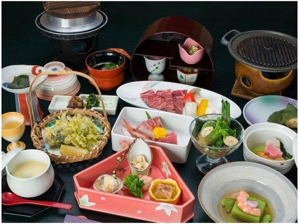*お夕食一例/季節の旬と地元の食材を活かした那須高原の味をごゆっくりご堪能下さい。
