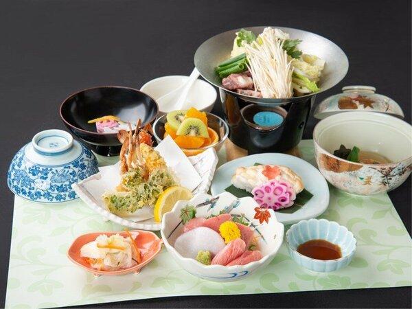 *お夕食「和食会席(7品)」量が少なめなので、シニア世代にもお勧めです。