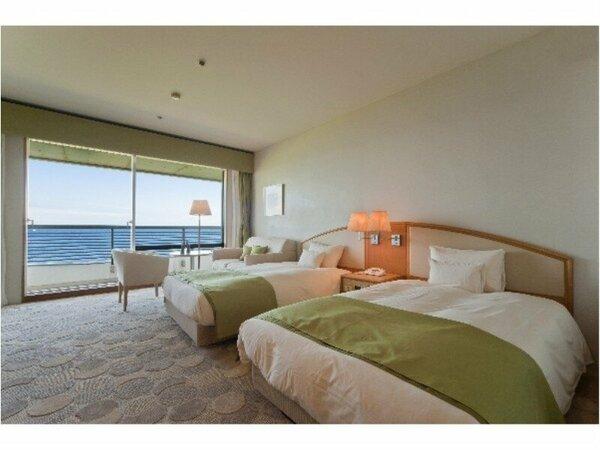 オーシャンビューツインルーム(イメージ)目の前に広がる海を眺めながらごゆっくりお過ごしください☆