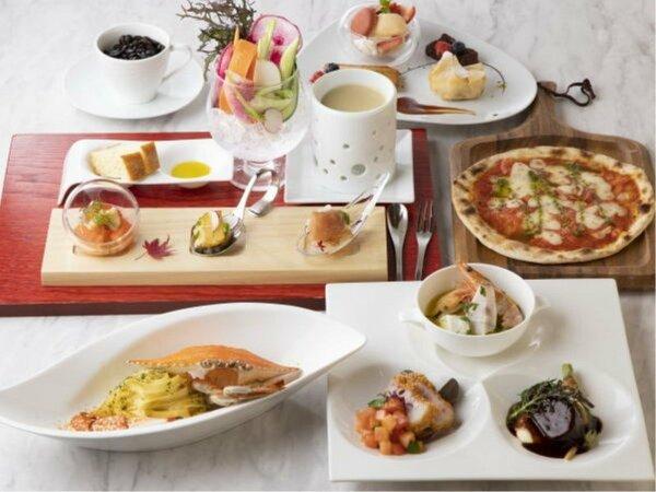 富山県の旬の食材をふんだんに使用した本格コース「季節の創作イタリアン」※イメージ