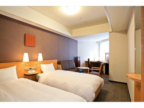 【デラックスツイン】20平米 ベッド幅105cm×2台 3名様利用可