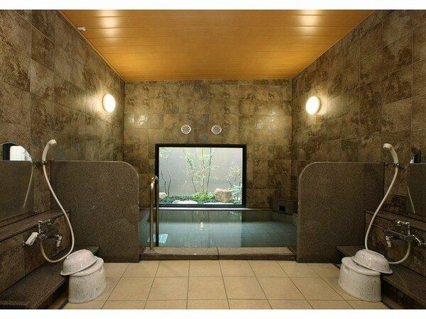 【女性用大浴場】ラジウム人工温泉大浴場「旅人の湯」:水当たりが軟らかく肌に潤いを与える人工温泉です。