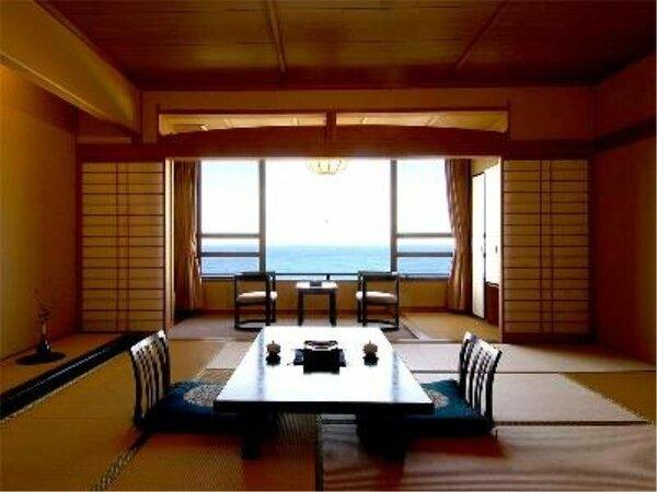 (客室の一例)水平線を望む和室