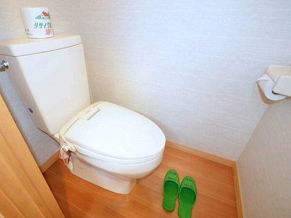 *グループのお客さま用の客室は、トイレが和式・洋式が1つずつ付いています。