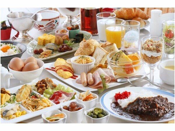 【朝食イメージ】バイキングでお腹いっぱい召し上がれ♪