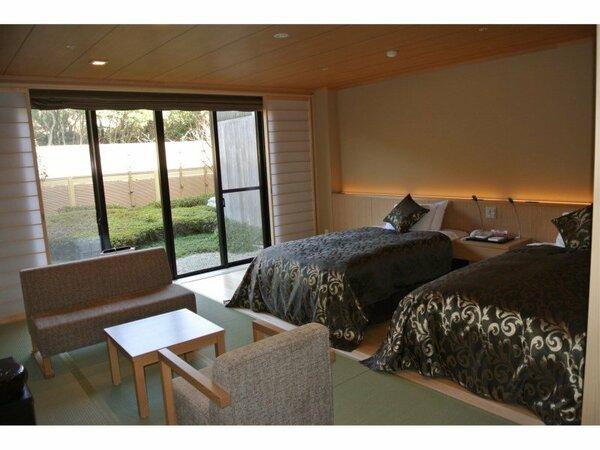 シャワーブース付、ゆとりと快適な3名様まで利用できる和モダン客室