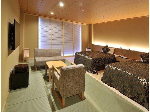 和モダンルームベットのある畳のお部屋