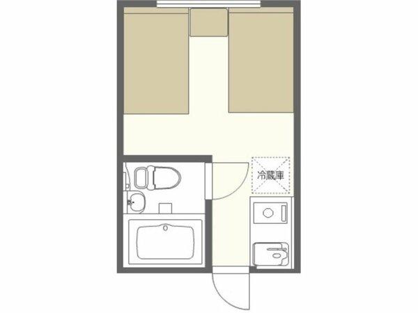 ツインルーム 間取りイメージ※実際の縮尺と多少異なります