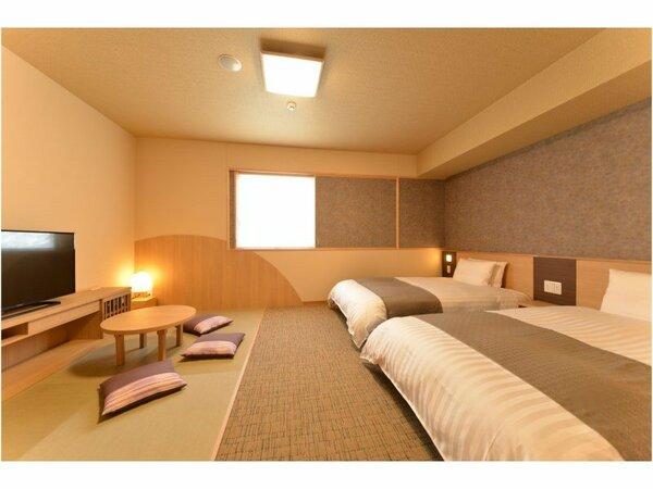 ◇禁煙◇和洋室26平米 ベッド120×195センチ+和布団1組