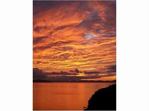 テラスから見たある日の夕焼け