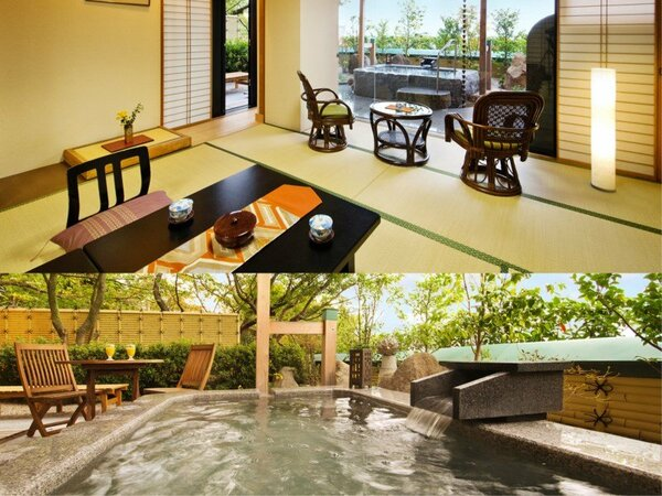 ◆天然温泉◆岩露天風呂付-和室12畳+次の間-