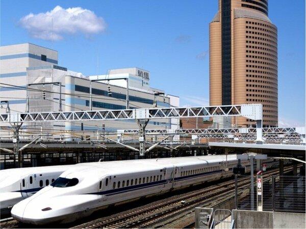 JR浜松駅に隣接したホテルならではの景色をお楽しみ下さい!客室からは新幹線がご覧頂けます☆