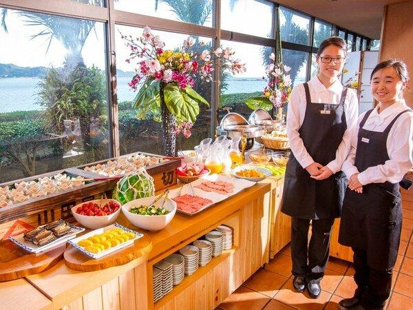 ◆ご朝食バイキング~明るいスタッフが笑顔でお出迎えいたします。元気に行ってらっしゃいませ♪