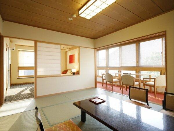【四季亭特別室】ベッドルーム+和室<禁煙>|リニューアル客室