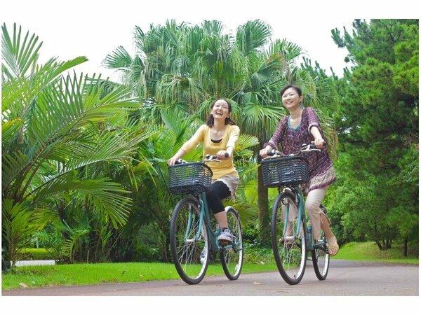 【レンタサイクル】シーガイア周辺は絶好のサイクリングスポット♪自転車に乗って海岸や松林を散策しよう。