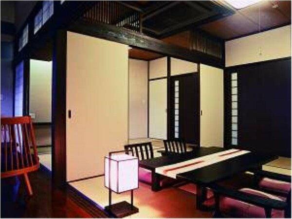 【露天風呂付客室(和室】お部屋は6畳2間でゆったりお過ごしいただけます。
