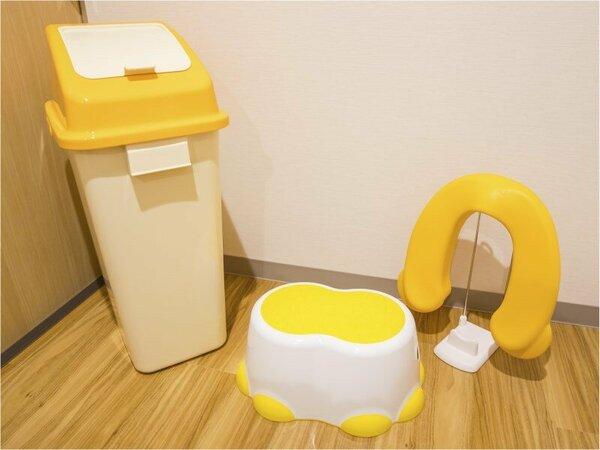 ベビールーム☆紙おむつ用のゴミ箱、ソフト便座、子ども用踏み台