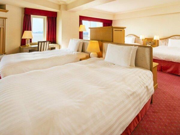 ◇ベッド4台常設のデラックスファミリールーム(4~7階客室)