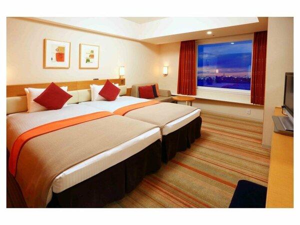 ハーモニールーム(3-9階/32平米)あたたかみのあるオレンジ色の客室
