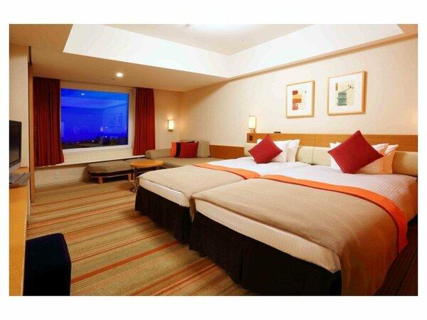 シンフォニールーム(3-9階/35平米)あたたかみのあるオレンジ色の客室