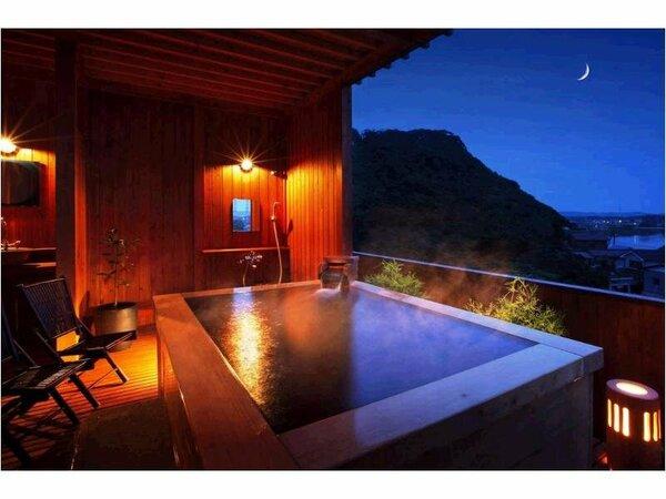 ■展望風呂〔柿渋〕■人と環境に優しい天然の柿渋を浴槽内と浴室に使用しています。