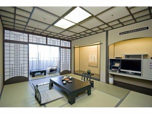 【和室(特別フロアー最上階8F)】江戸の伝統的様式とモダンの調和をテーマにデザインの粋をこらした和室