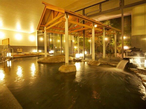 自慢の大浴場 あつ湯、ぬる湯、打たせ湯、露天風呂など湯三昧をお楽しみいただけます