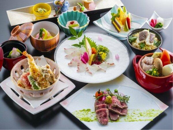 愛媛県産の鯛をふんだんに使用したオリジナル懐石料理(イメージ)