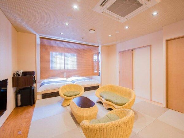 ◆露天風呂付客室55.8平米◆4名定員/和ベッド+露天風呂+シャワー室+食事部屋+居間