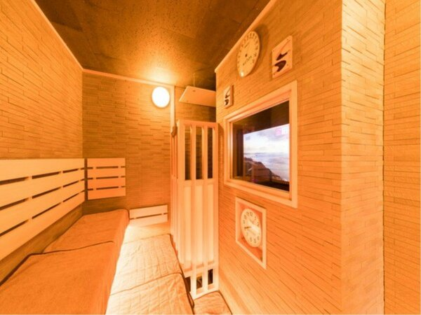 ◆女性大浴場高温サウナ テレビ付き