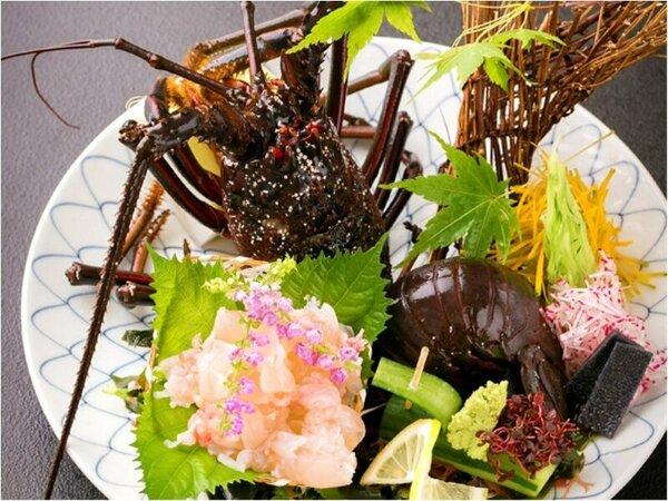 ■伊勢えび■ぷりっプリの伊勢えびを刺身に、旨味を味わって