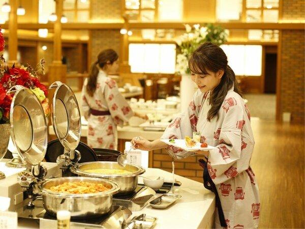 朝食和洋バイキング(イメージ)★広々とした食事会場では、お客様同士の間隔を十分にお取りしています。